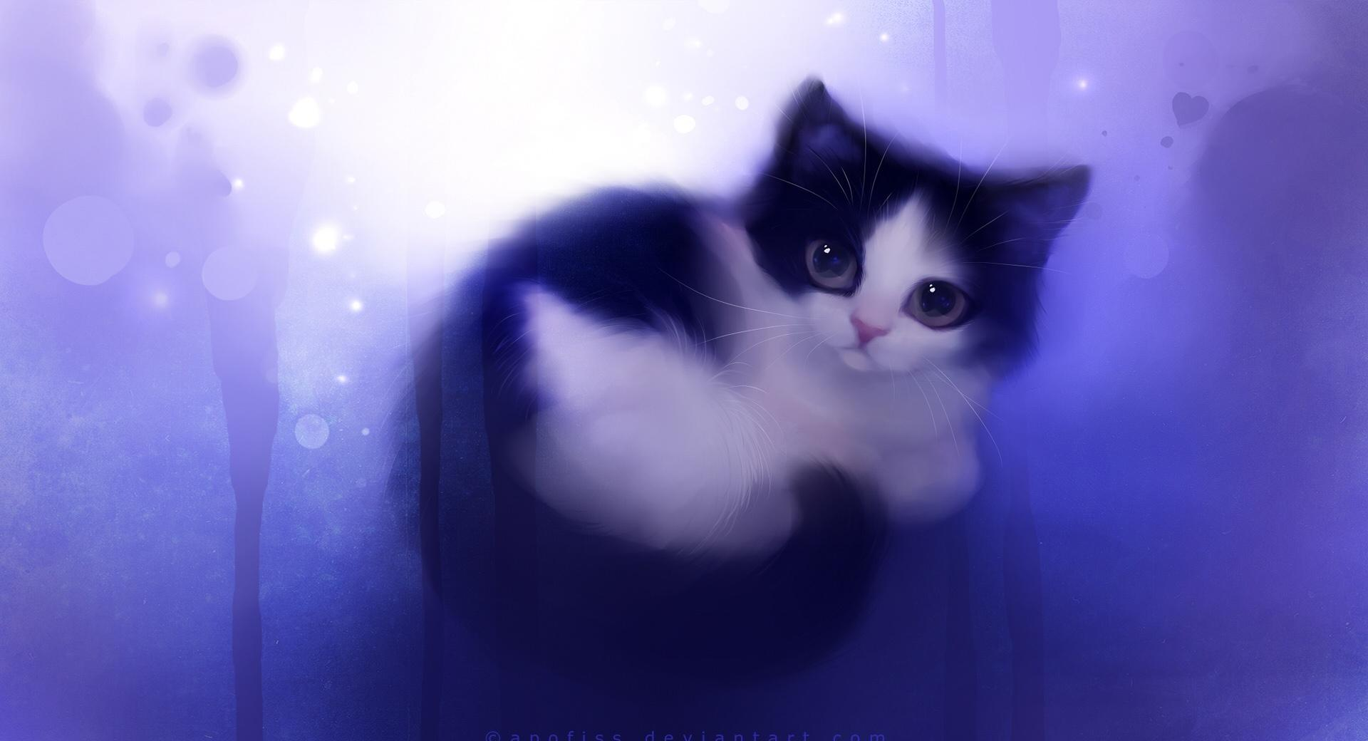 Cute Kitty Painting wallpapers HD quality