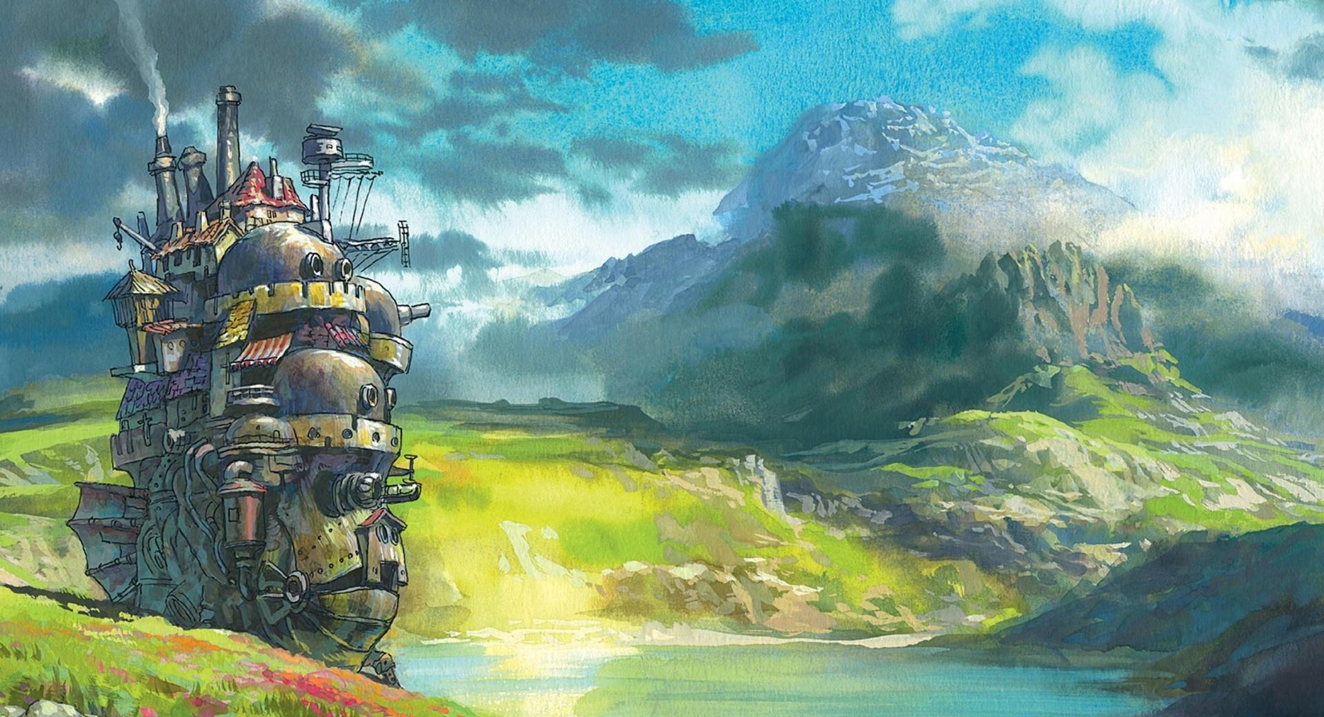 Drawing Moving Castle wallpapers HD quality