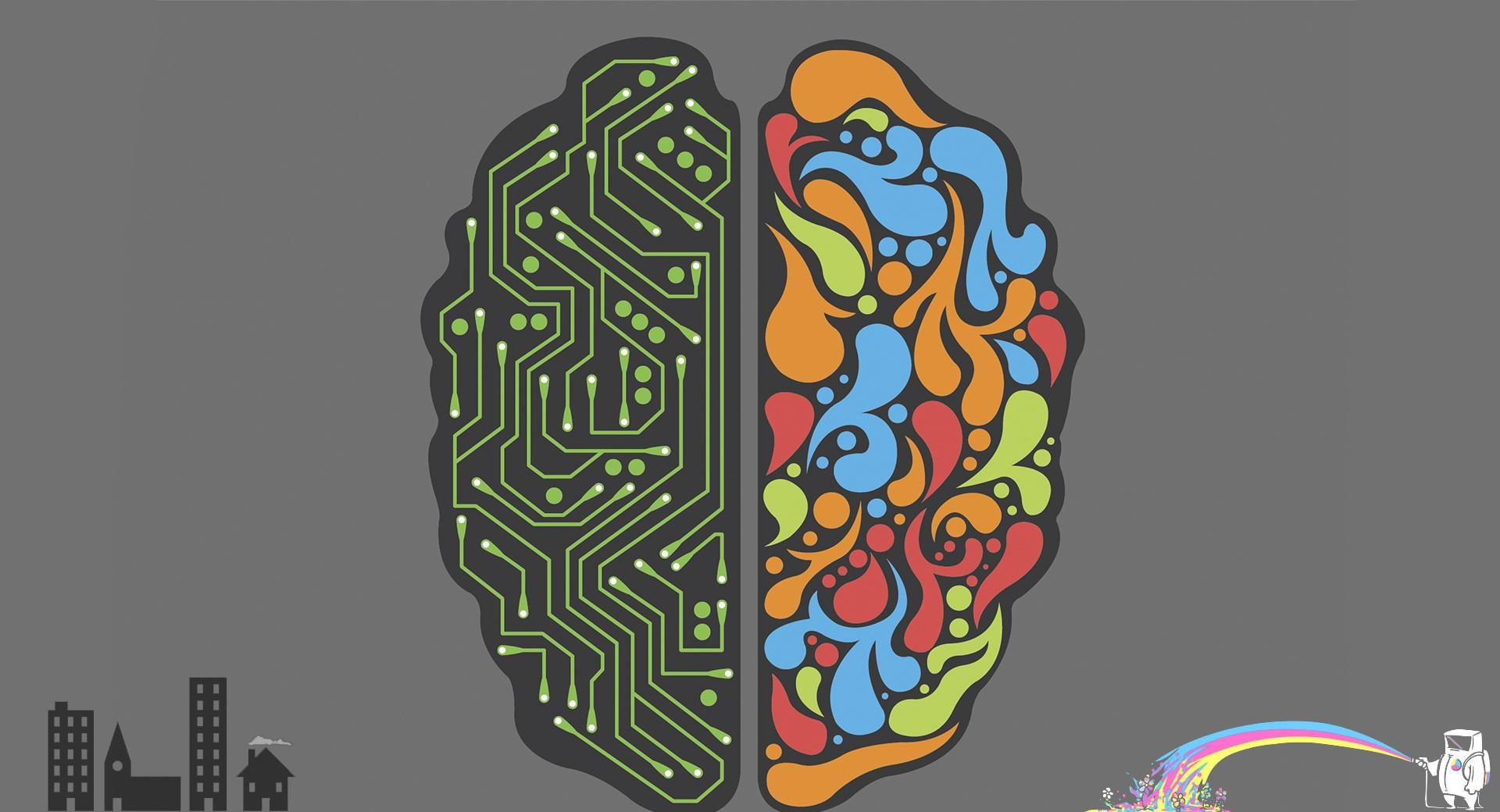 Emotional and Rational Brain wallpapers HD quality