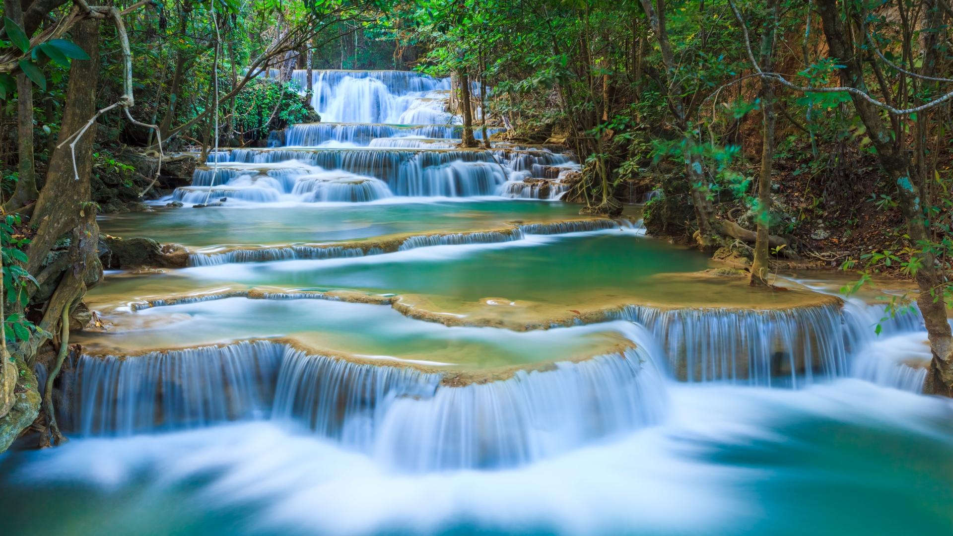 Erawan Waterfall wallpapers HD quality