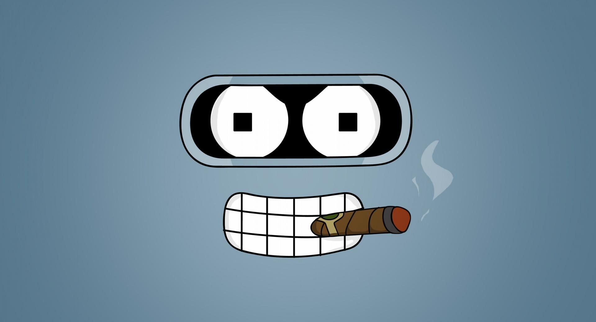 Futurama Bender Cigar wallpapers HD quality