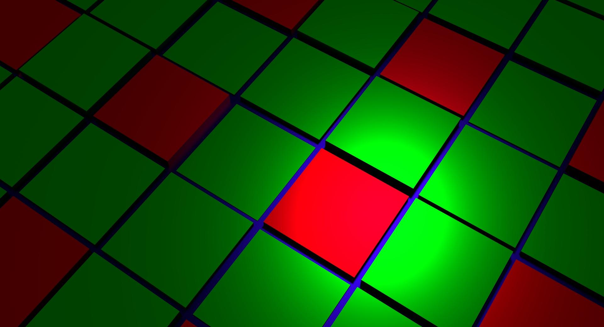 Green Red Cubes wallpapers HD quality