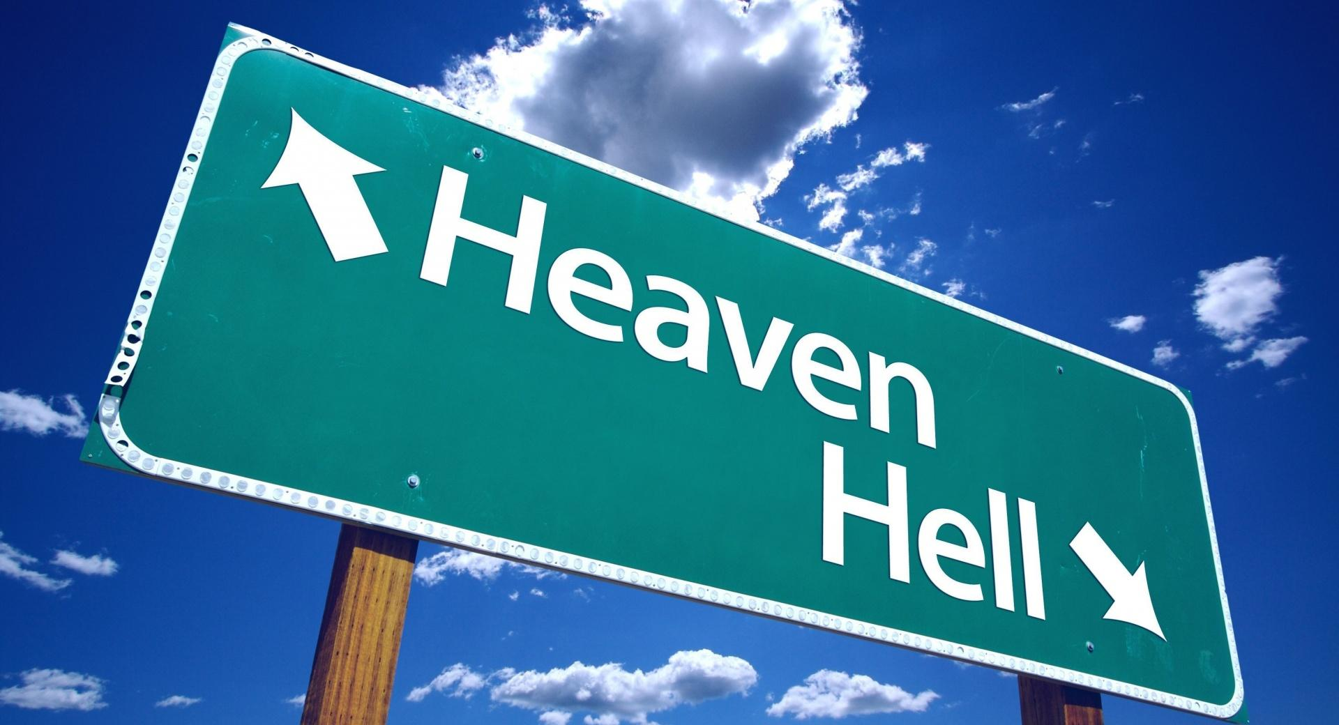 Heaven And Hell Sign wallpapers HD quality