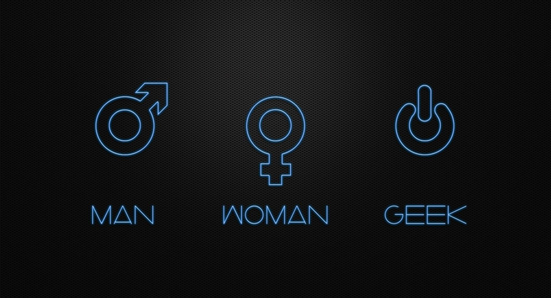 Man Woman Geek wallpapers HD quality