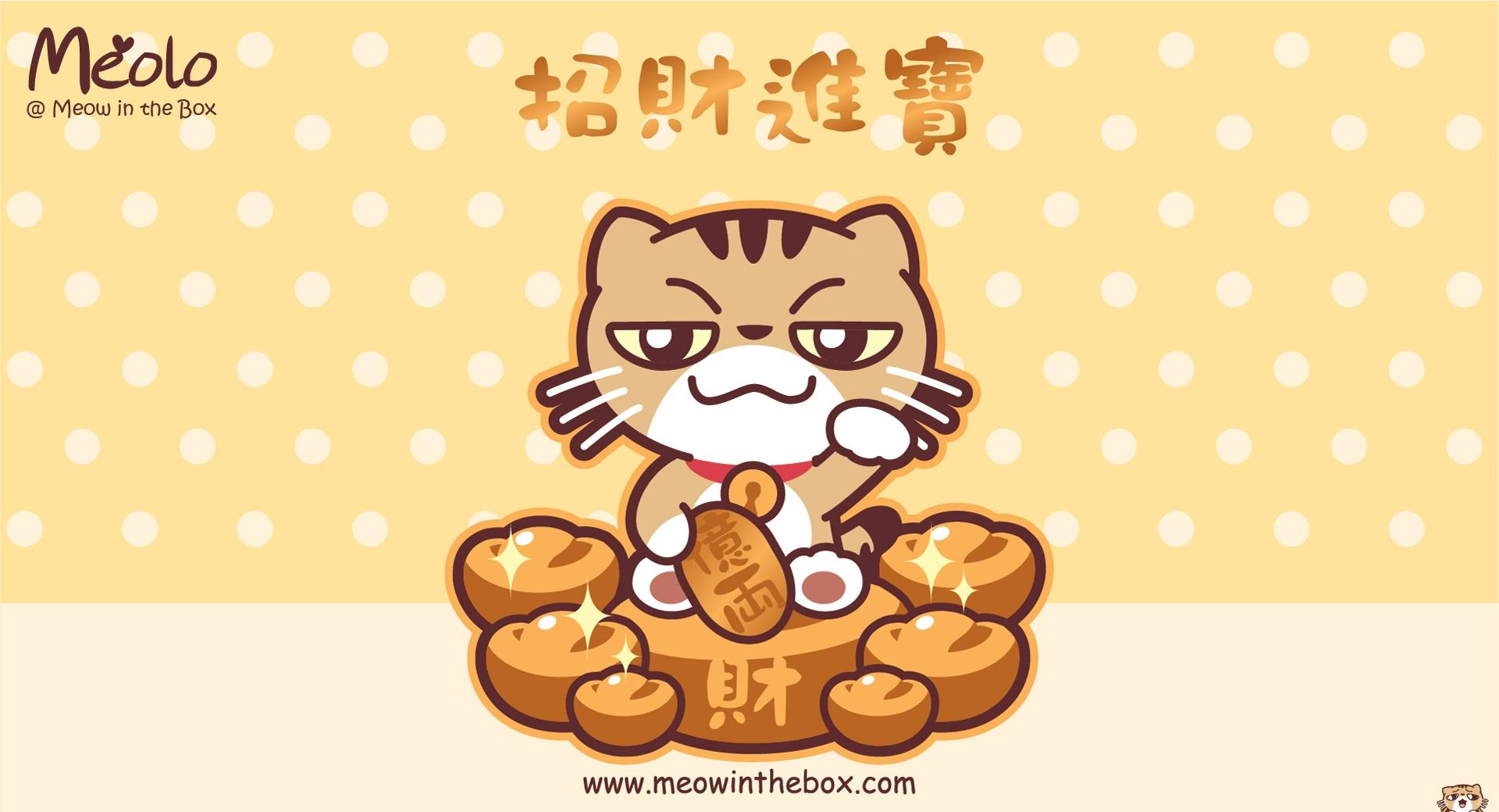 Meolo Chinese New Year - Meow in the Box wallpapers HD quality
