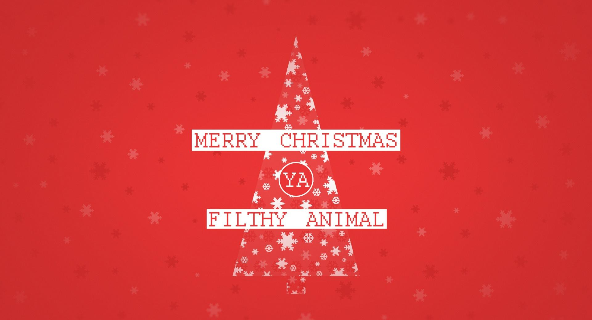 Merry Christmas Ya Filthy Animal wallpapers HD quality