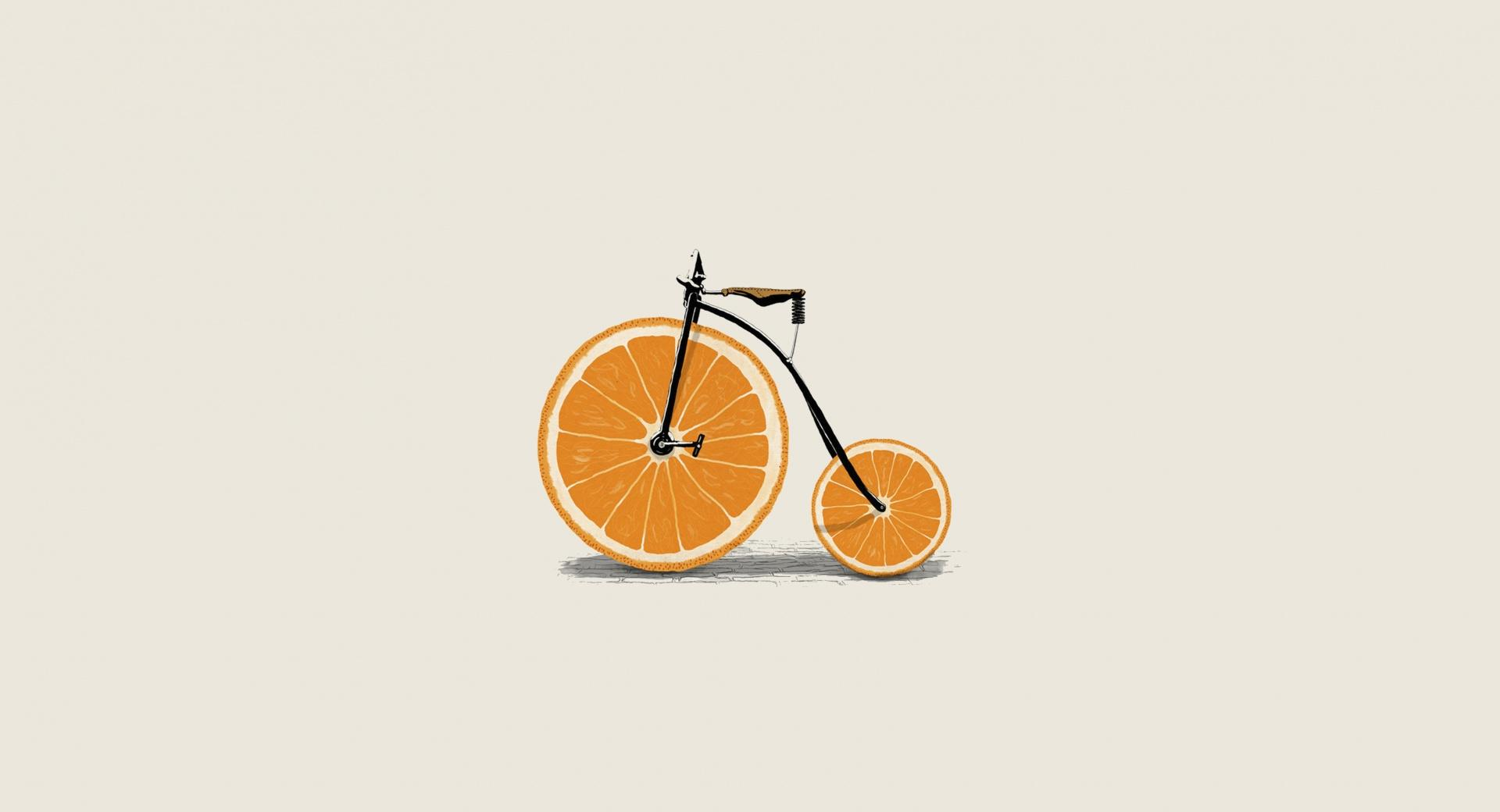 Orange Bicycle wallpapers HD quality
