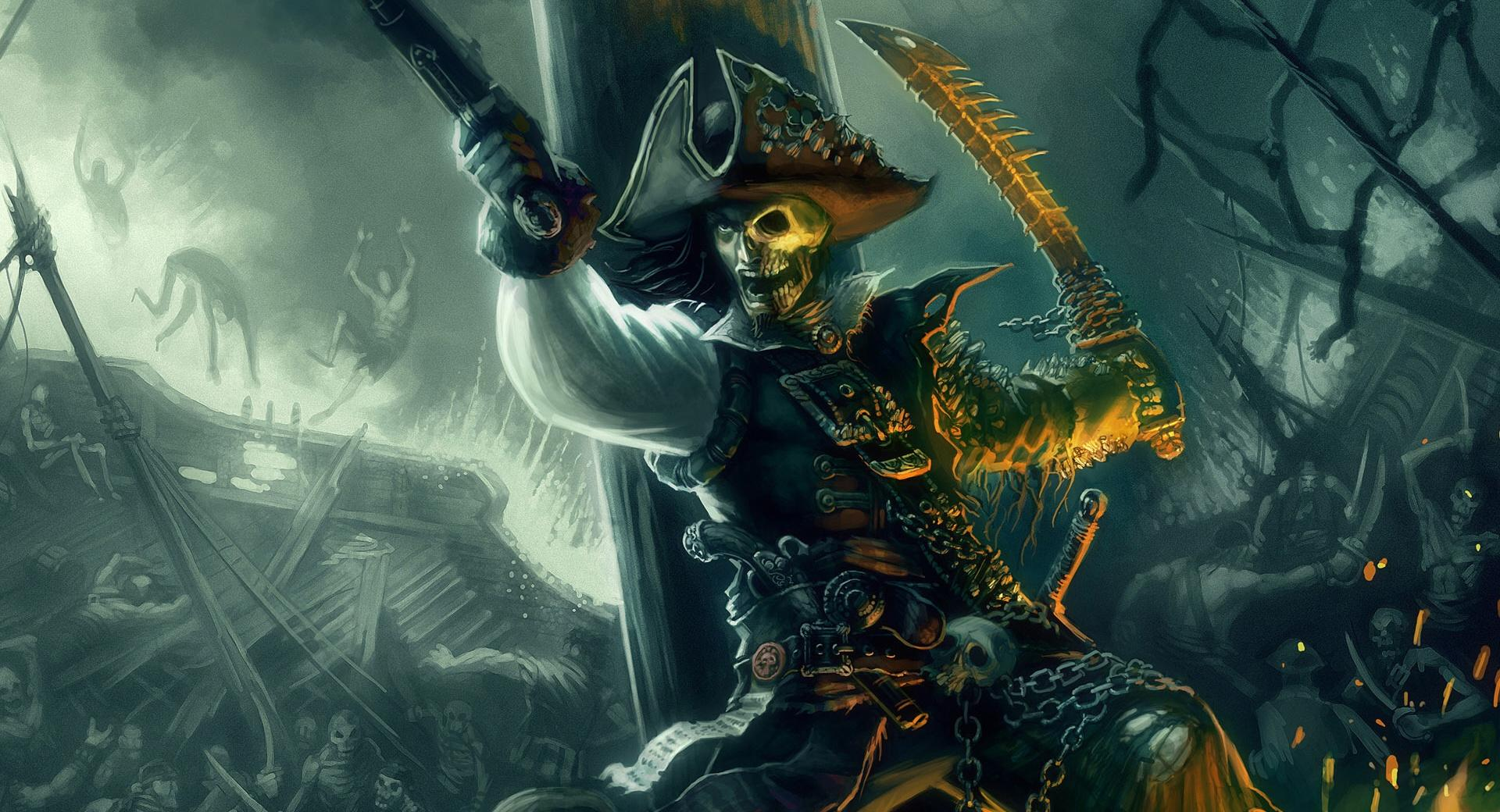 Pirate Sword Fight Painting wallpapers HD quality