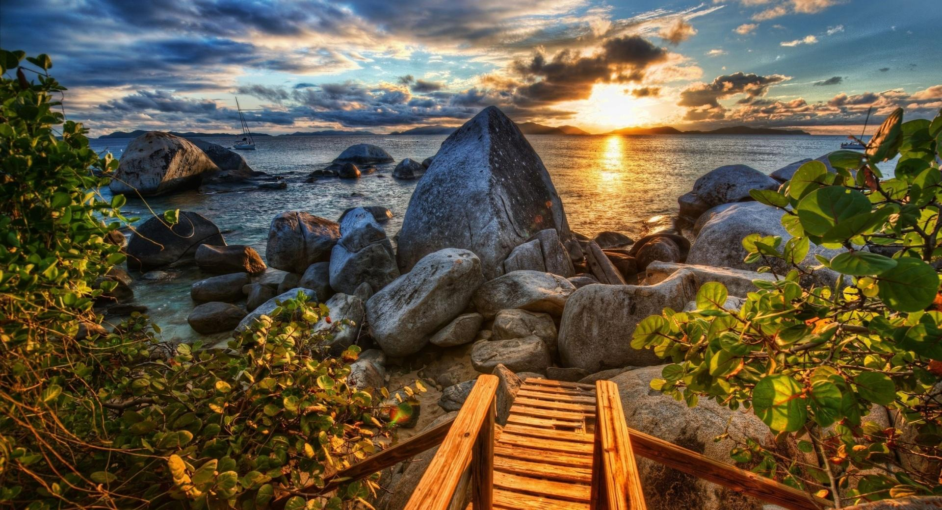 Rocky Shore HDR wallpapers HD quality