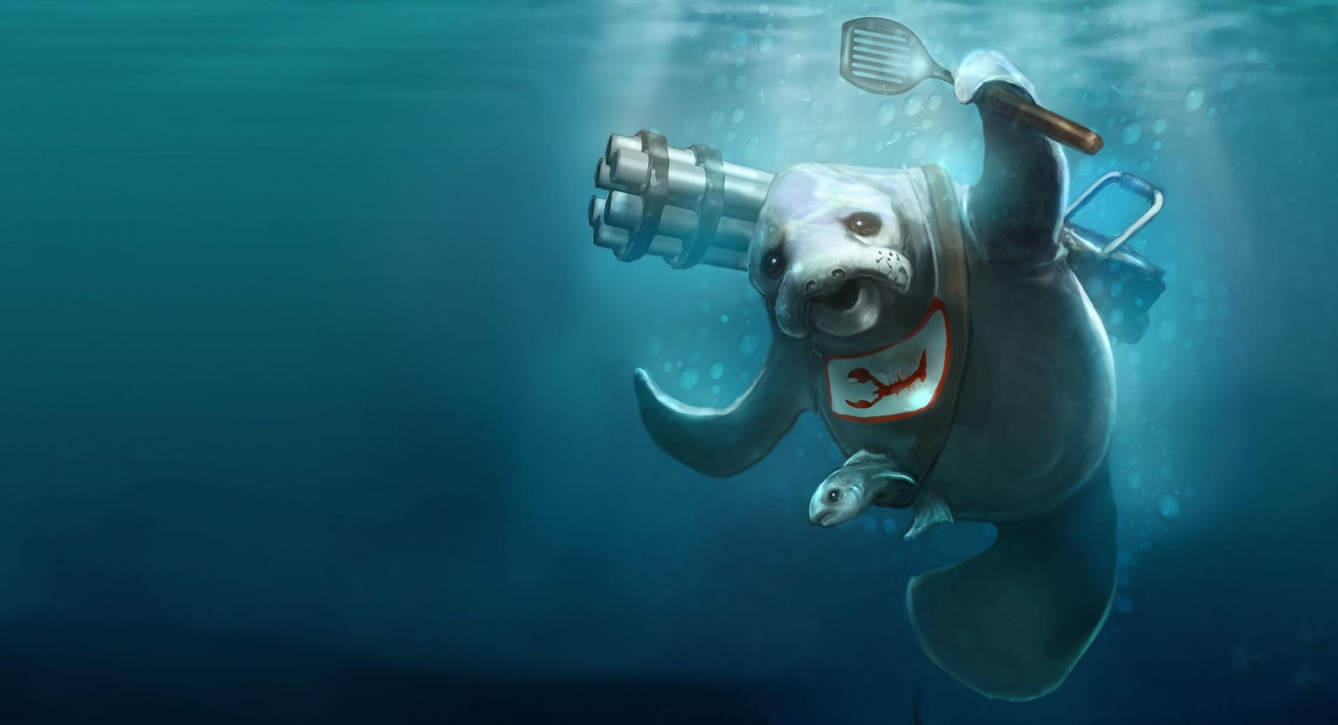 Seal Underwater Painting wallpapers HD quality