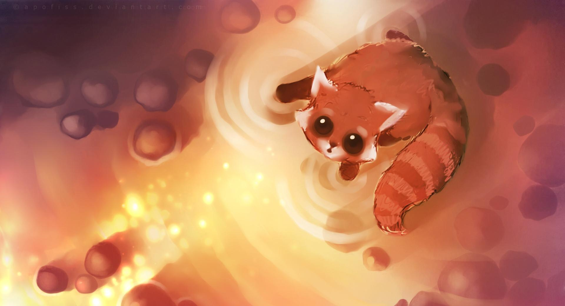 Shining Cat Painting wallpapers HD quality