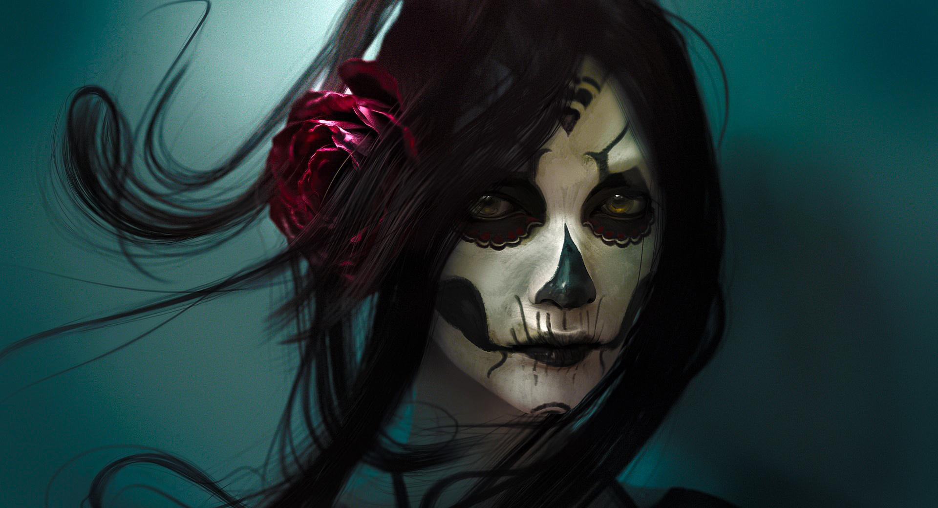 Skull Girl wallpapers HD quality
