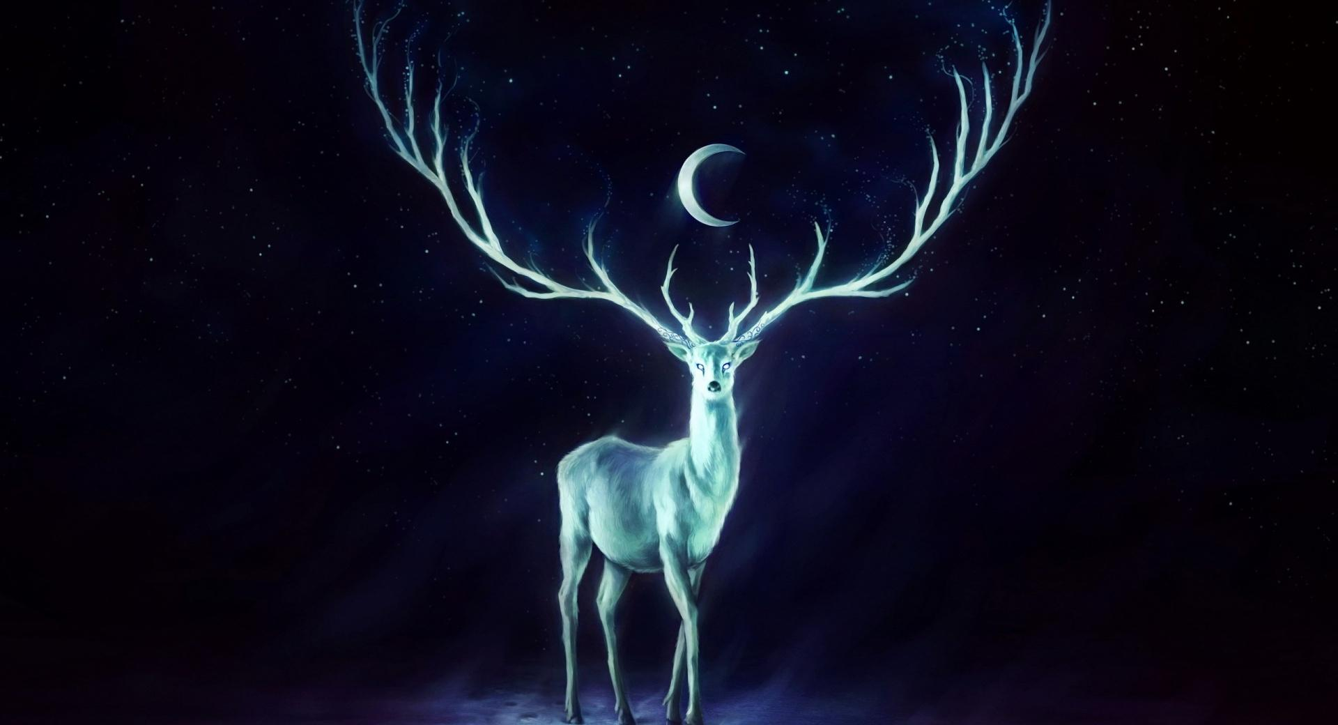 Stag Painting wallpapers HD quality