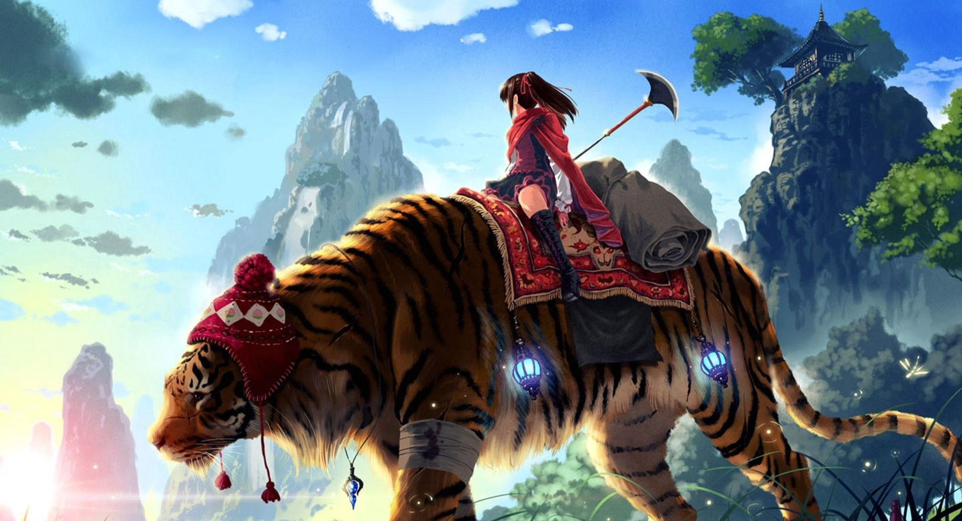 Tiger Ride Painting wallpapers HD quality