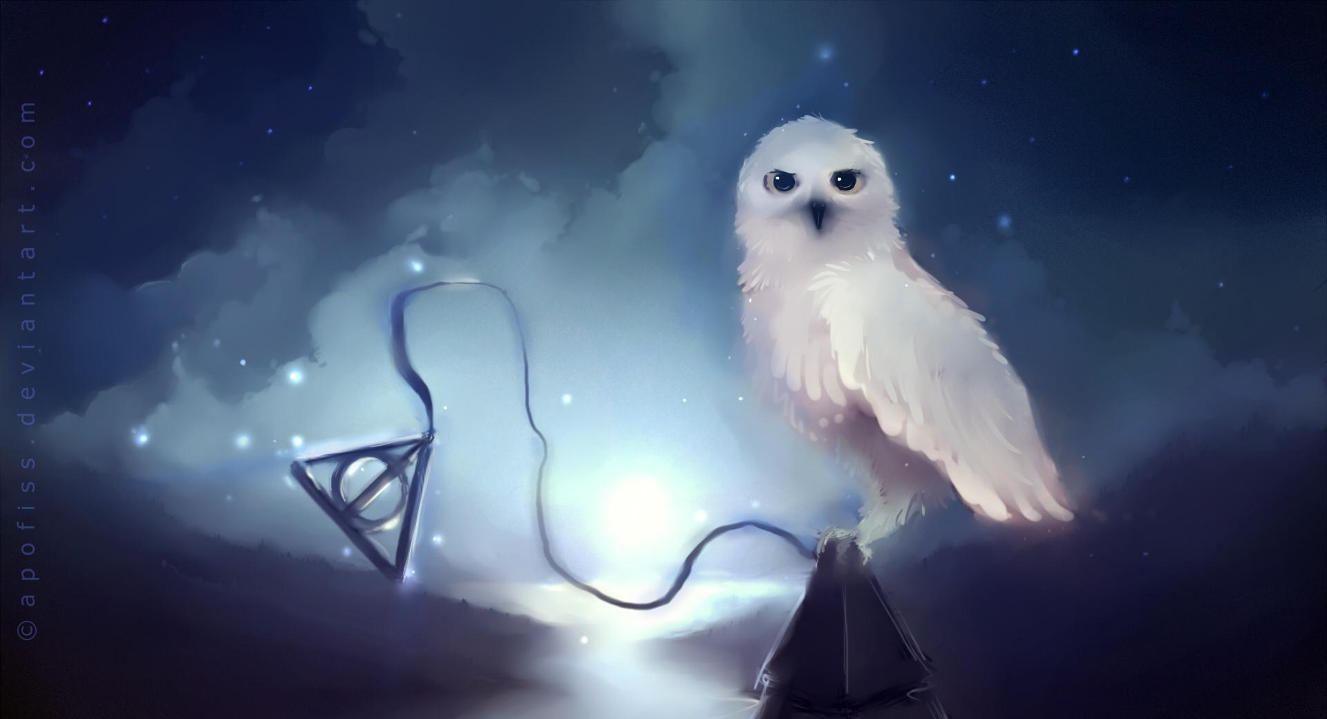 White Owl Painting wallpapers HD quality