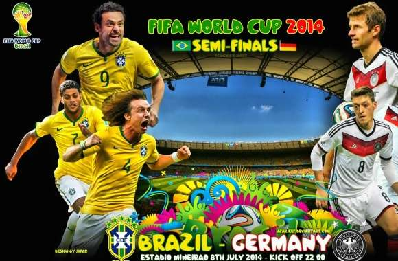 BRAZIL - GERMANY SEMI-FINALS WORLD CUP 2014