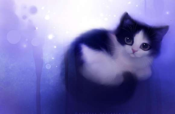 Cute Kitty Painting