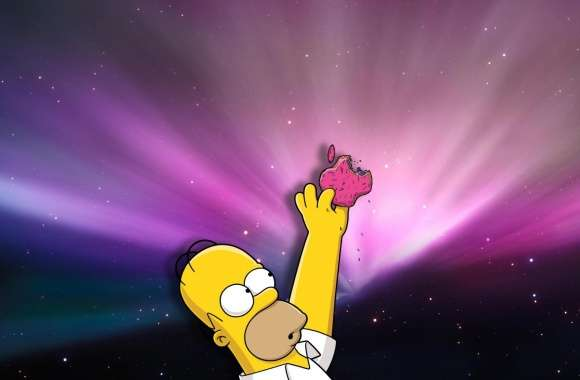 Homer Loves Donuts wallpapers hd quality