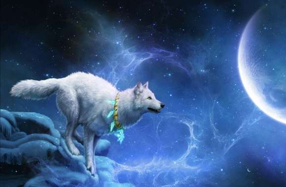 Magic White Wolf