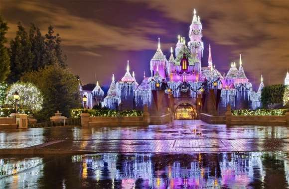 Sleeping Beauty Castle Christmas at Disneyland