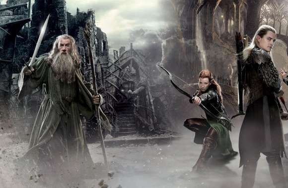 The Hobbit An Unexpected Journey 2 Elves wallpapers hd quality
