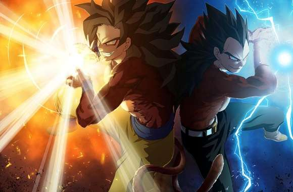 Vegeta and Goku by Madan