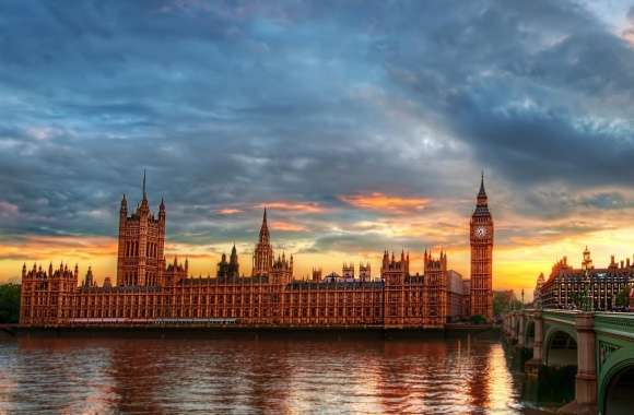 Westminster Palace At Twilight
