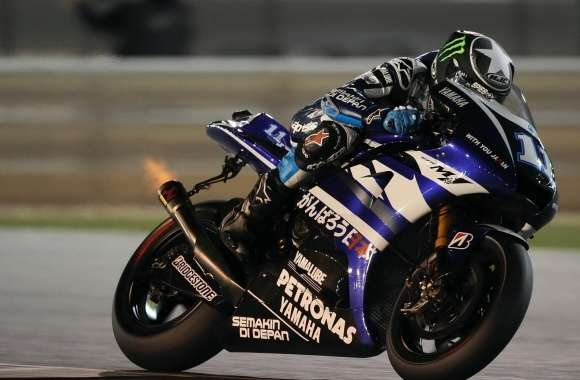 Yamaha Yzr M1 On Race Track wallpapers hd quality