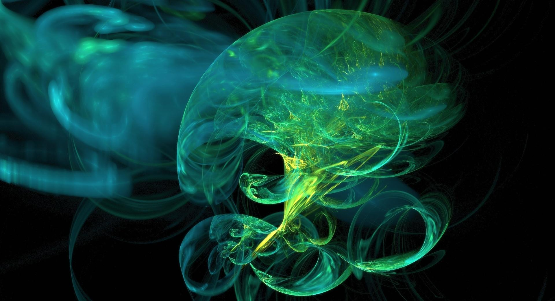 Abstract Green Smoke wallpapers HD quality