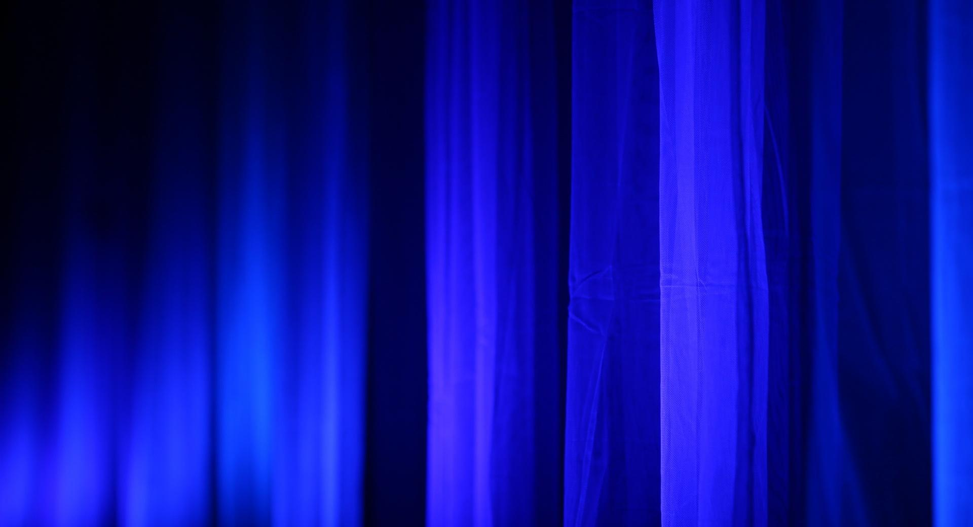 Blue Curtains wallpapers HD quality