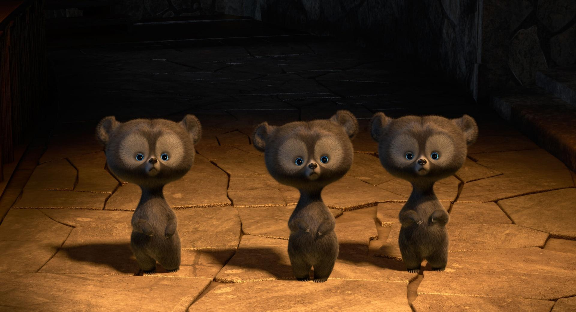 Brave Triplet Bear Cubs wallpapers HD quality