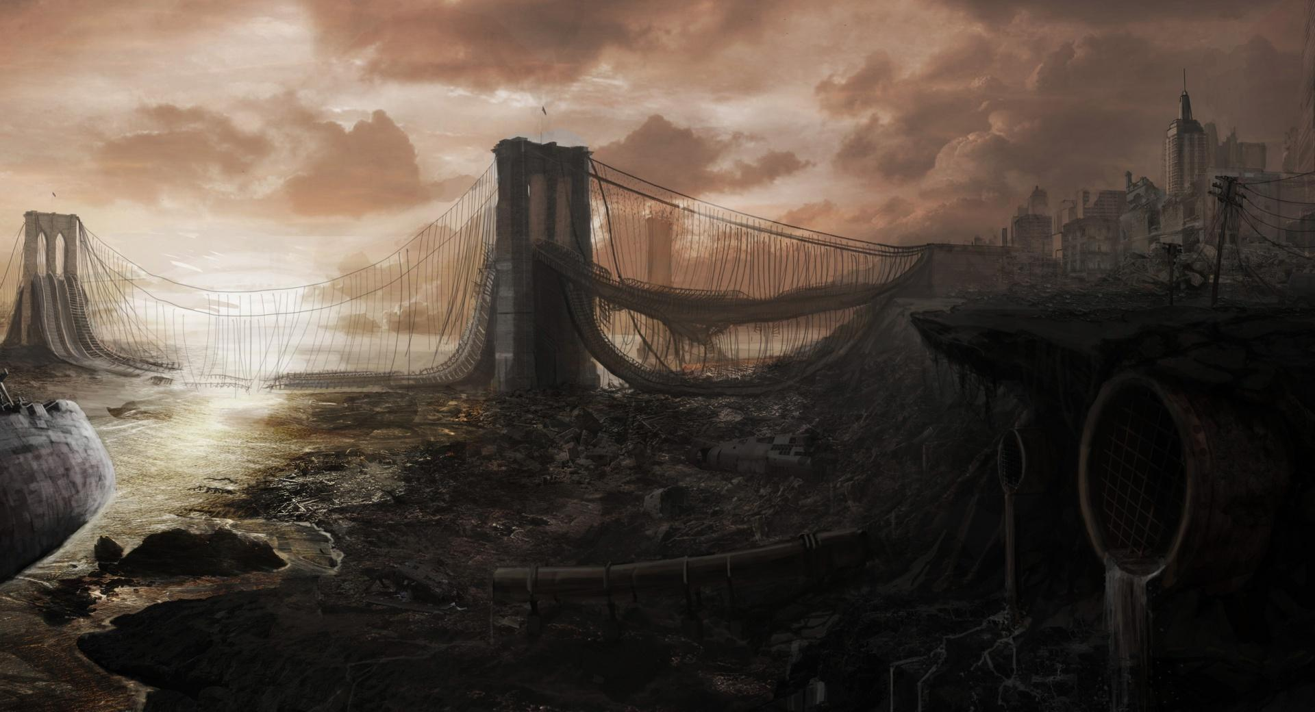 Brooklyn Bridge Ruins wallpapers HD quality