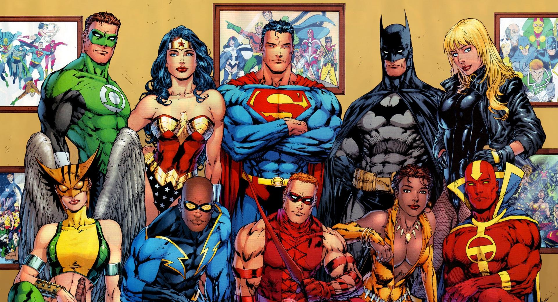 DC Comics Superheroes at 640 x 960 iPhone 4 size wallpapers HD quality