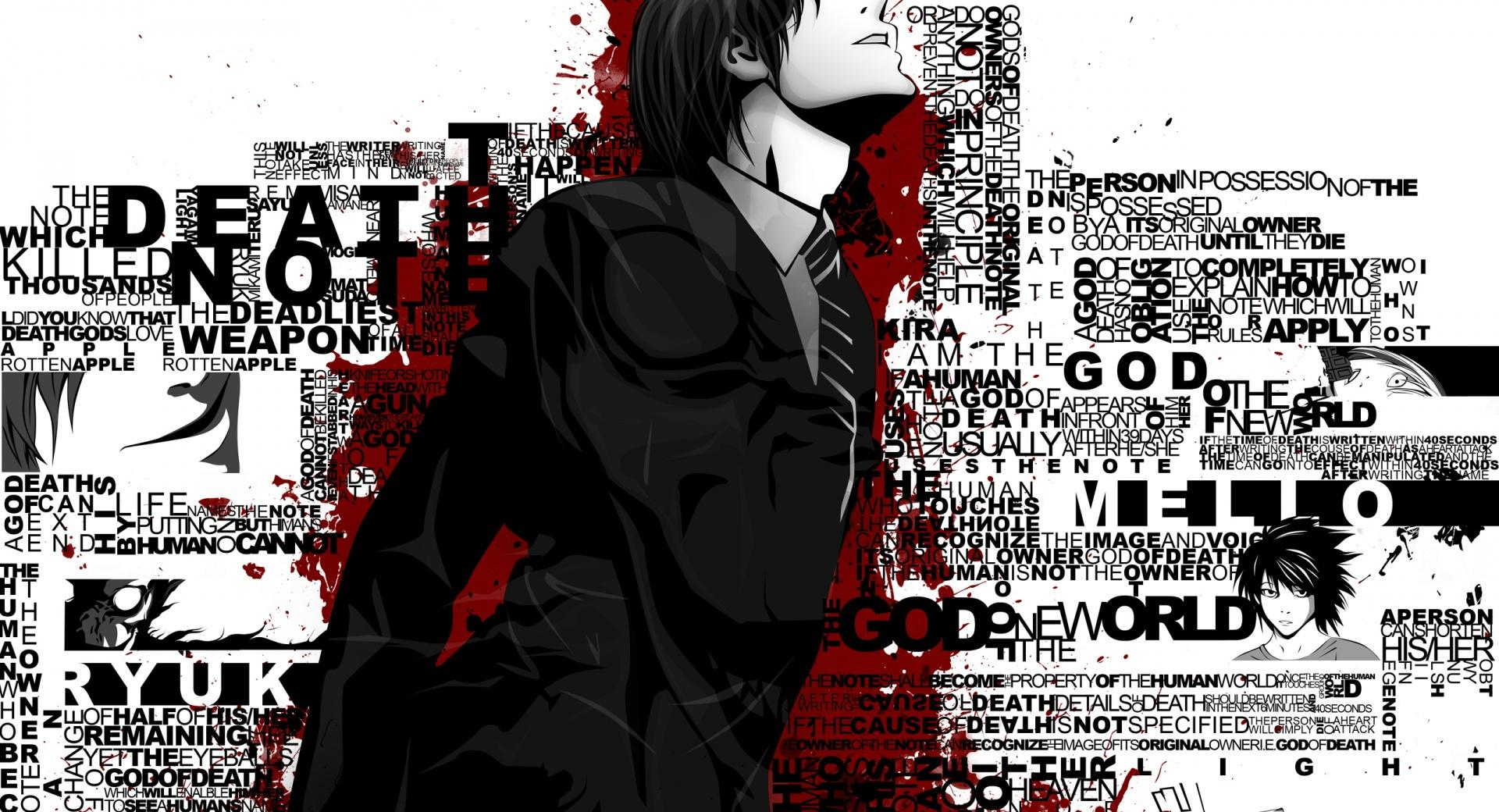 Death Note Typography wallpapers HD quality