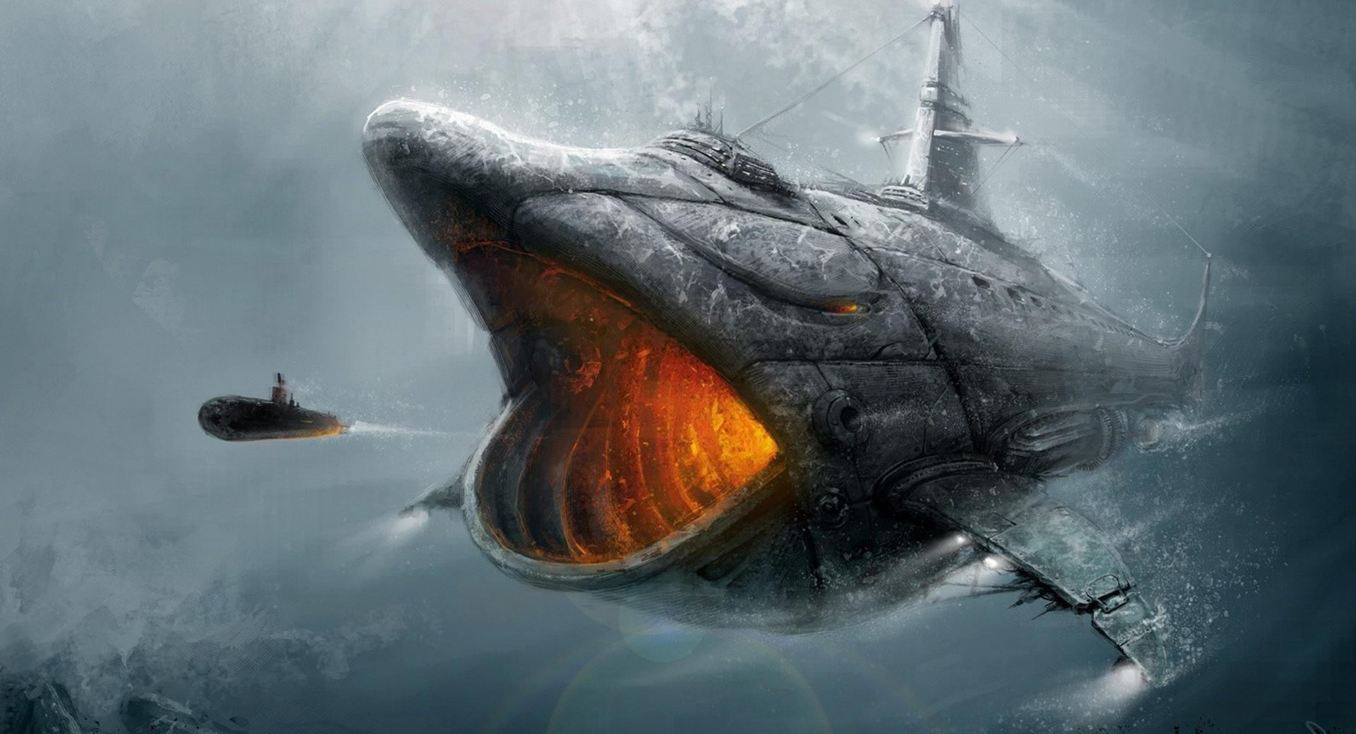 Fish Submarine wallpapers HD quality