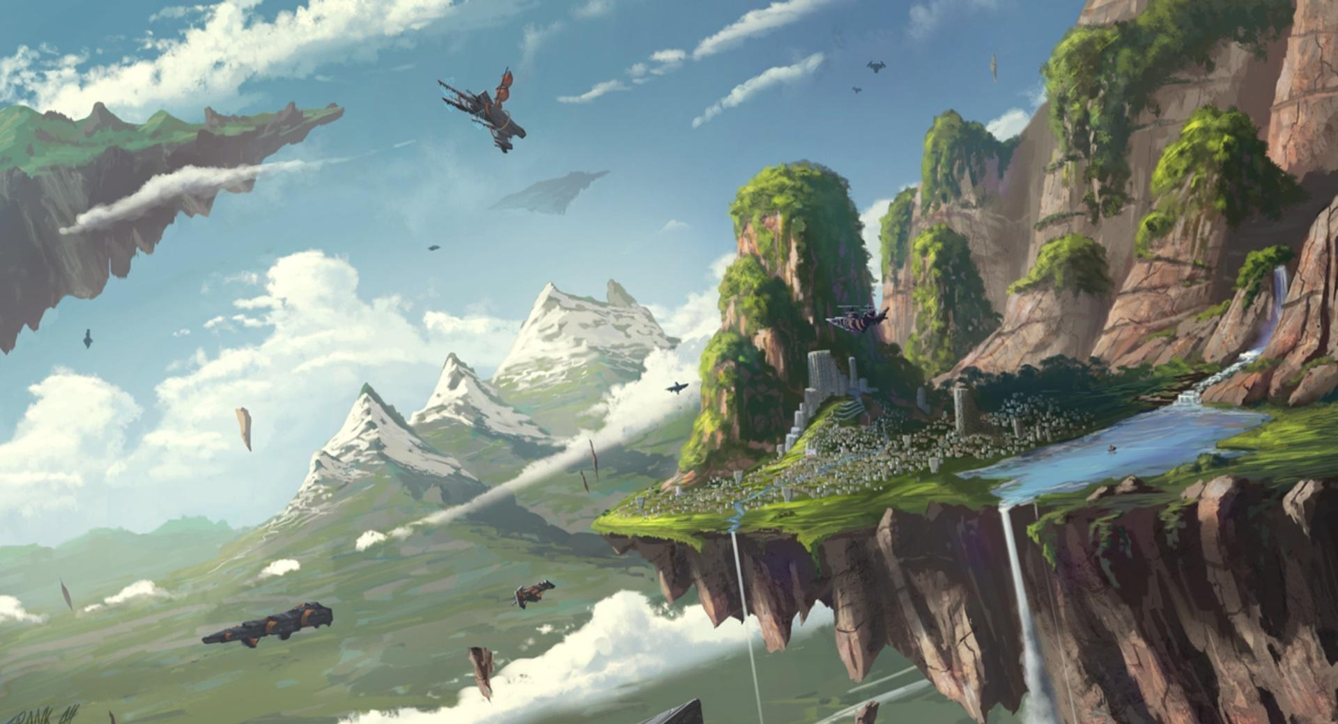 Floating Island wallpapers HD quality