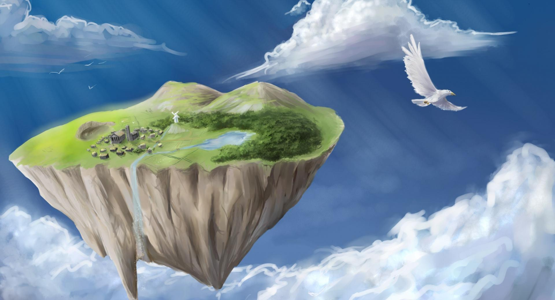 Flying Island wallpapers HD quality