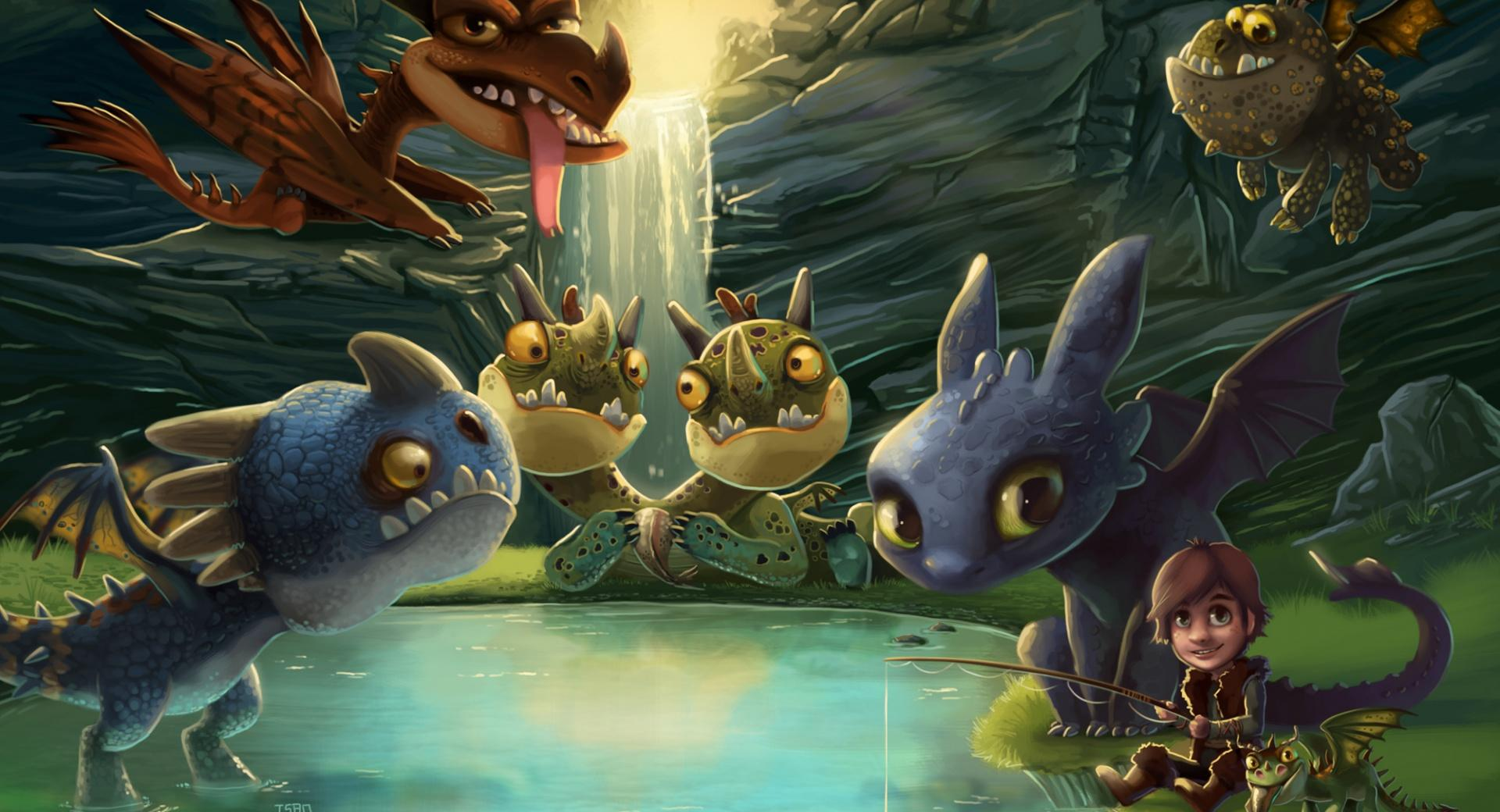 Hiccup, Toothless and friends wallpapers HD quality