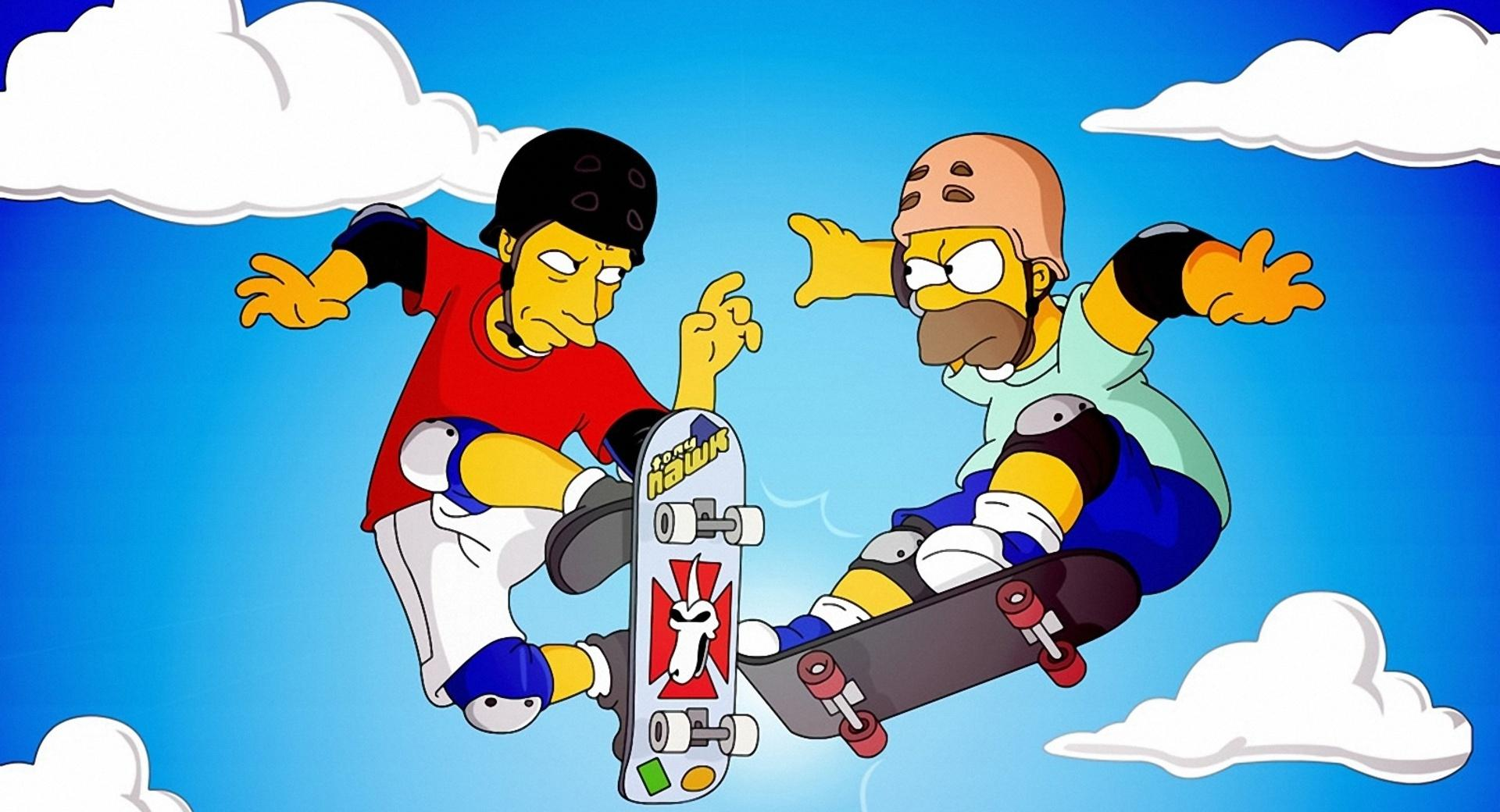 Homer And Tony Hawk wallpapers HD quality