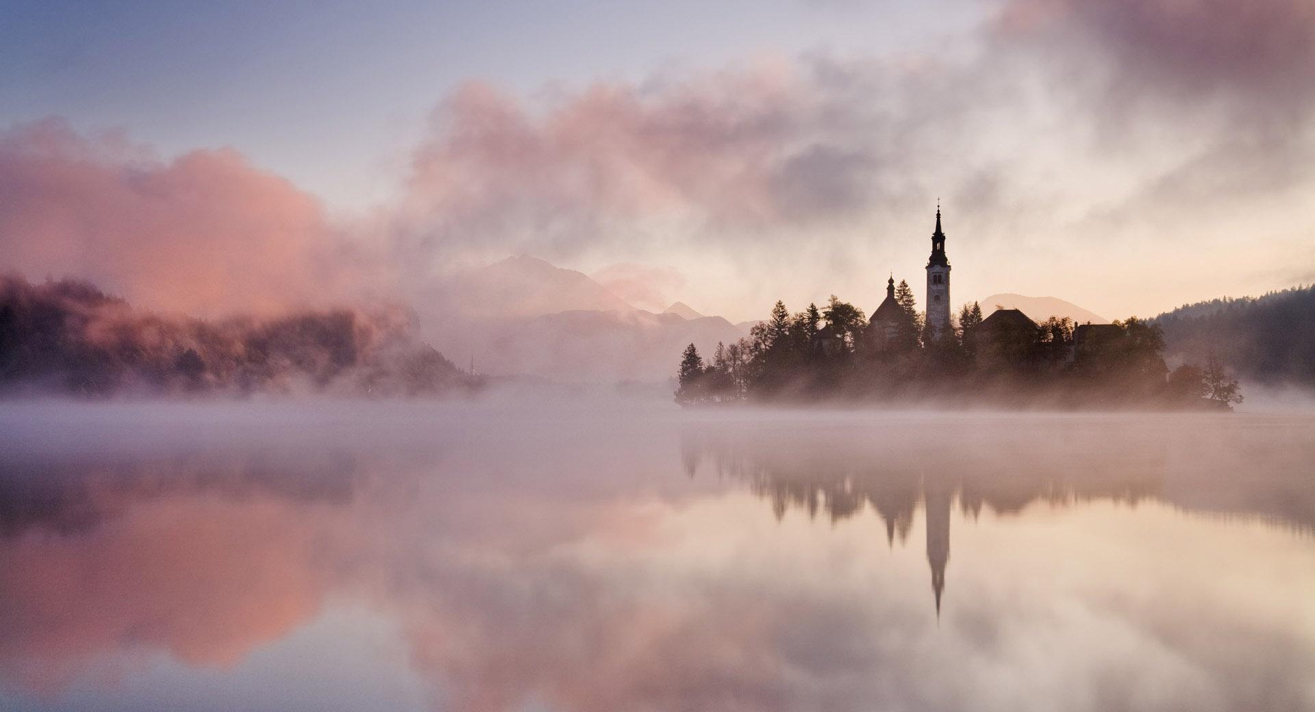 Lake Fog wallpapers HD quality