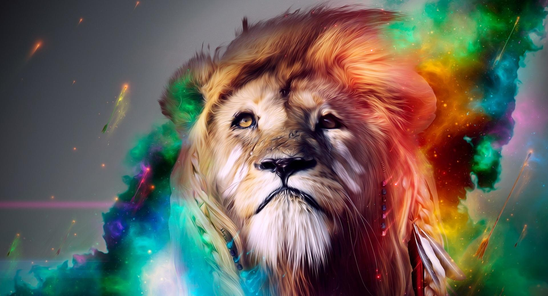 Lion Abstract wallpapers HD quality