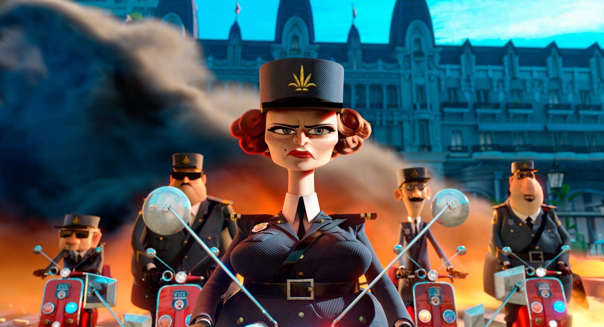 Madagascar 3 Captain Dubois at 1600 x 1200 size wallpapers HD quality
