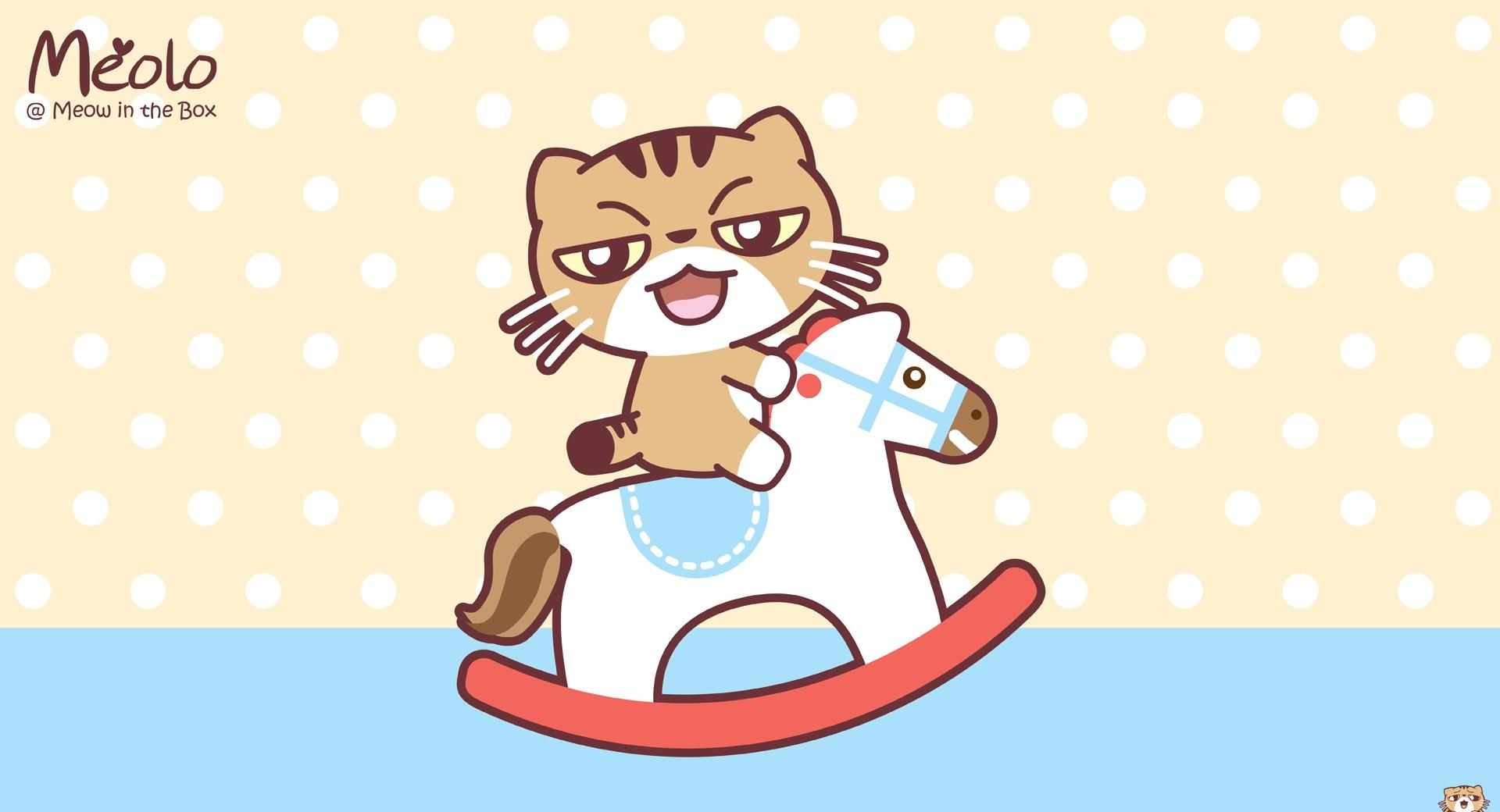 Meolo on Wooden Horse - Meow in the Box wallpapers HD quality