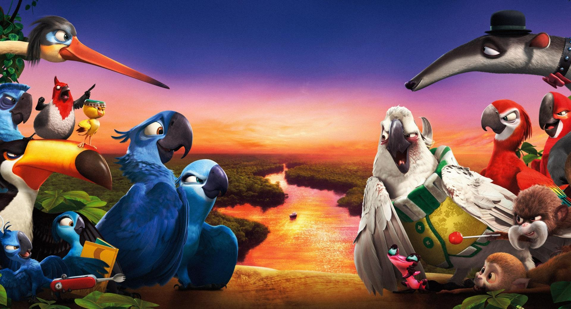 Rio 2 New 2014 at 320 x 480 iPhone size wallpapers HD quality