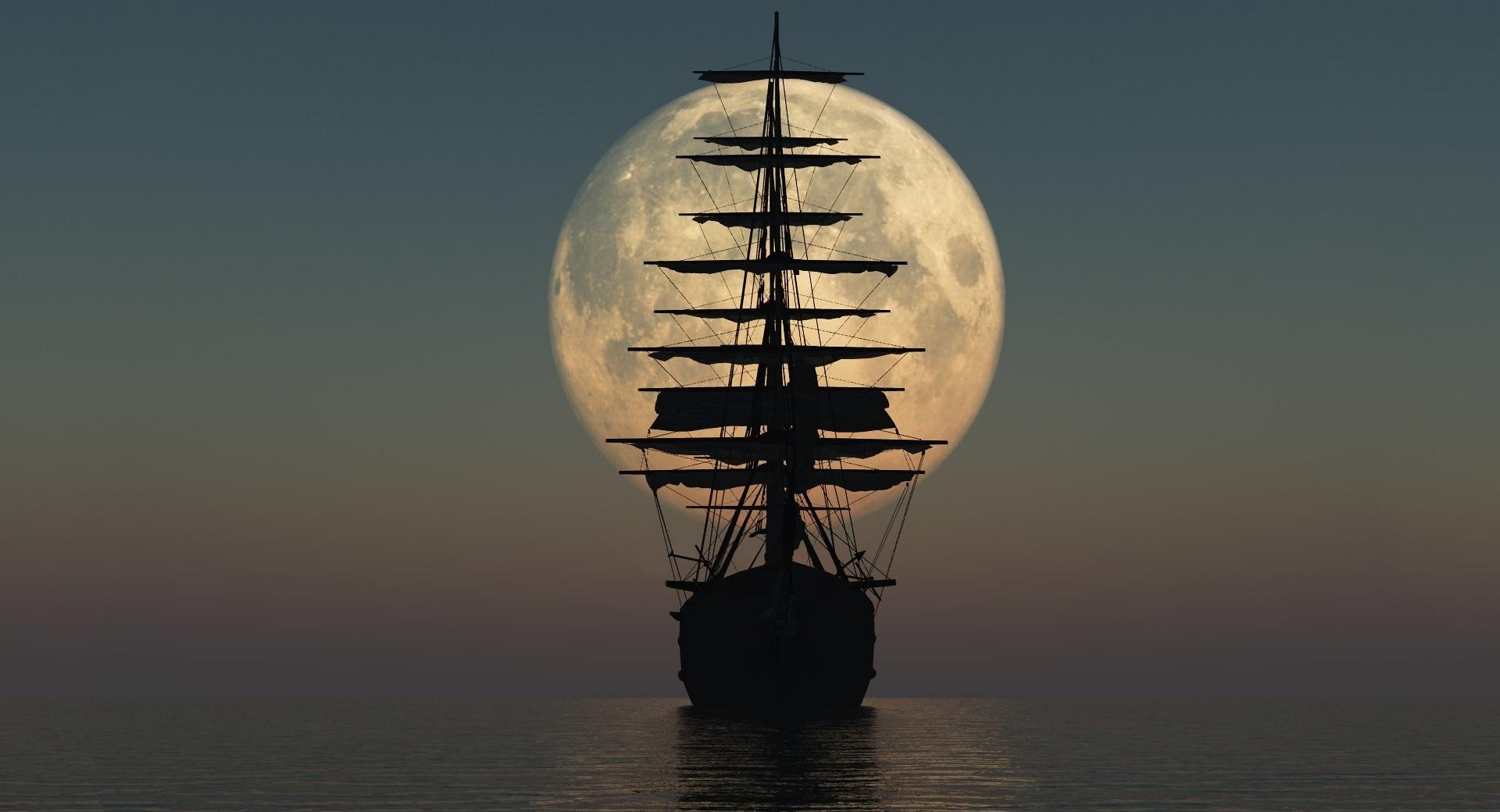 Sailing by Moonlight wallpapers HD quality