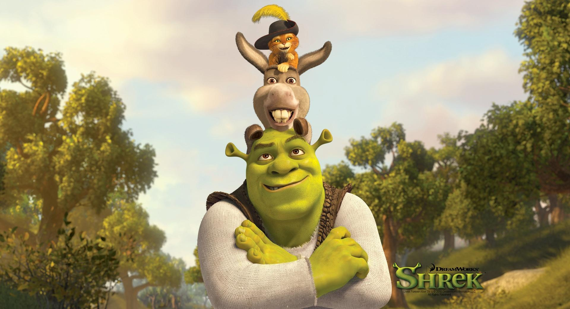 Shrek, Puss And Donkey wallpapers HD quality