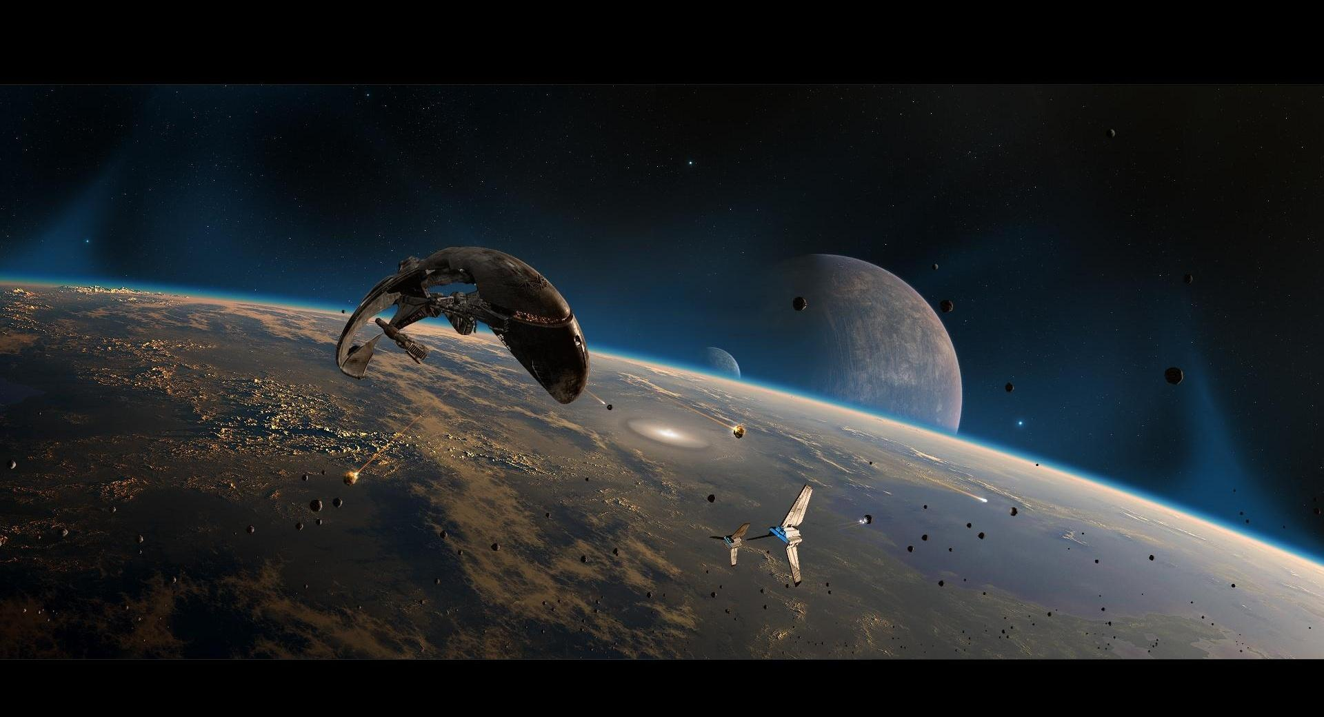 Spaceships in Space wallpapers HD quality
