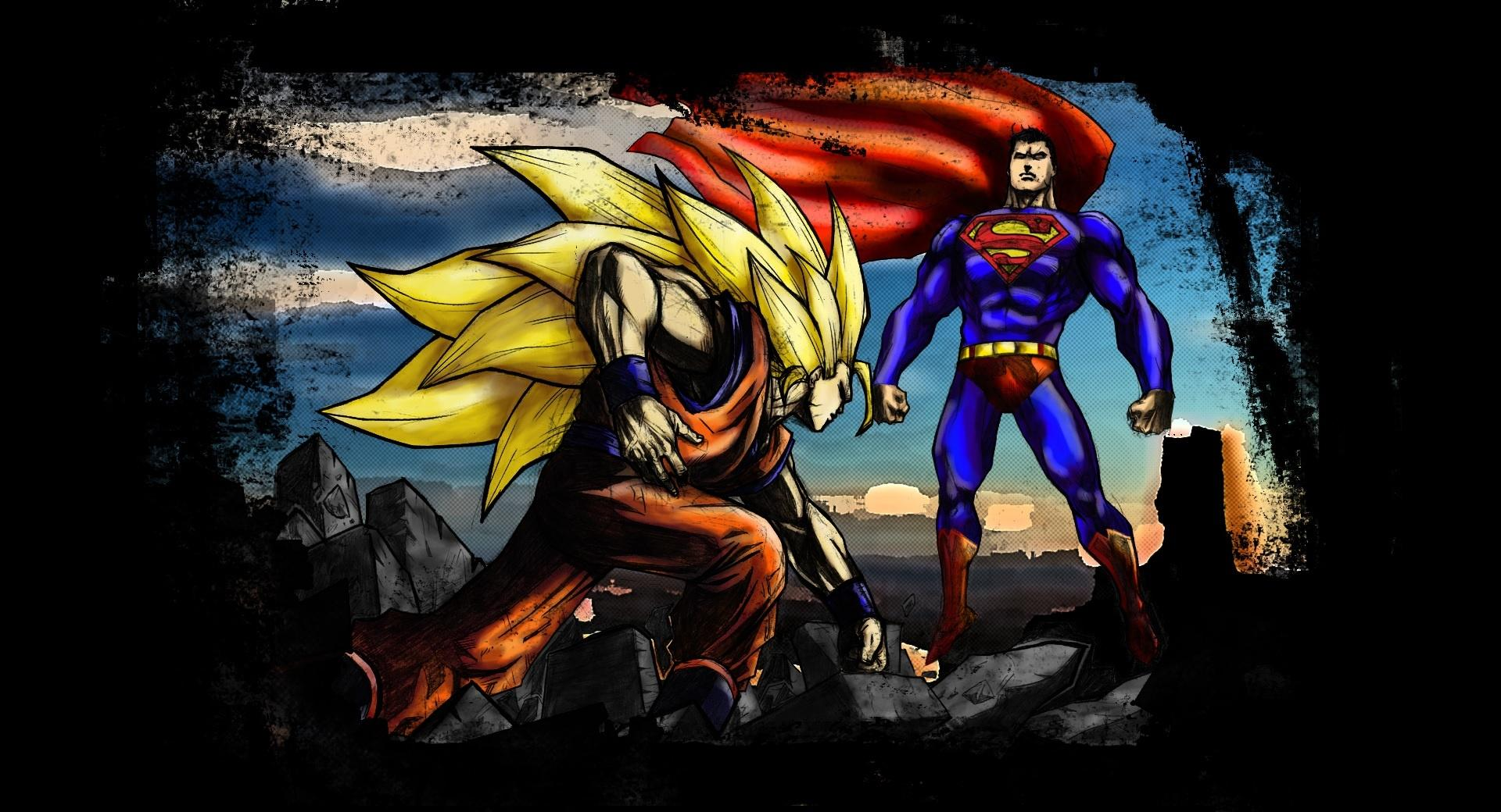 Superman VS Goku wallpapers HD quality