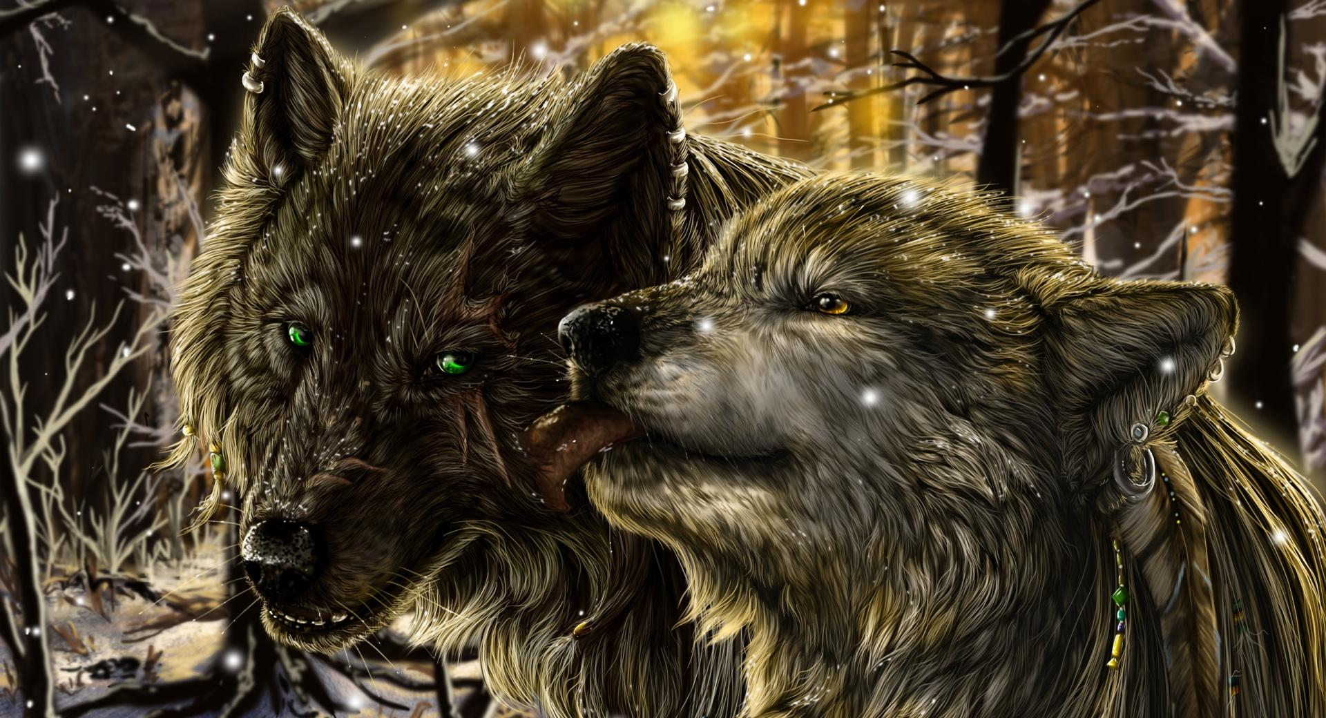 Wolves Love wallpapers HD quality