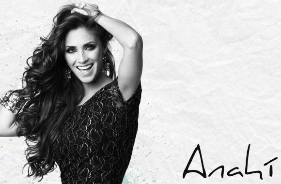 Anahi Black and White